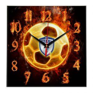 Настенные часы «Огненный футболист Stal»
