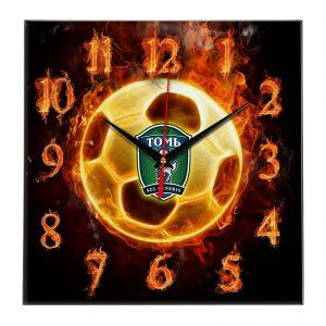 Настенные часы «Огненный футболист Tom»