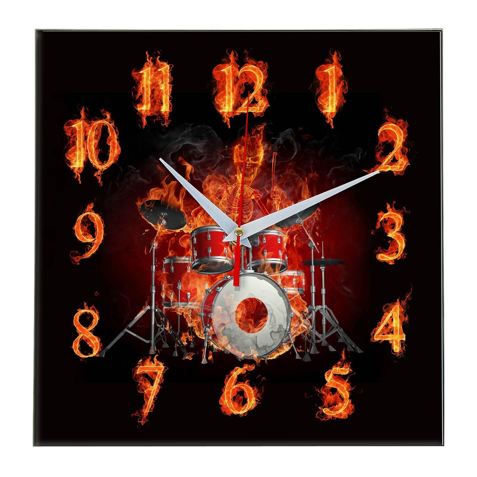 Настенные часы «Flames-Fire-Drums»