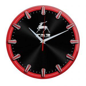 часы ГАЗ чернокрасные
