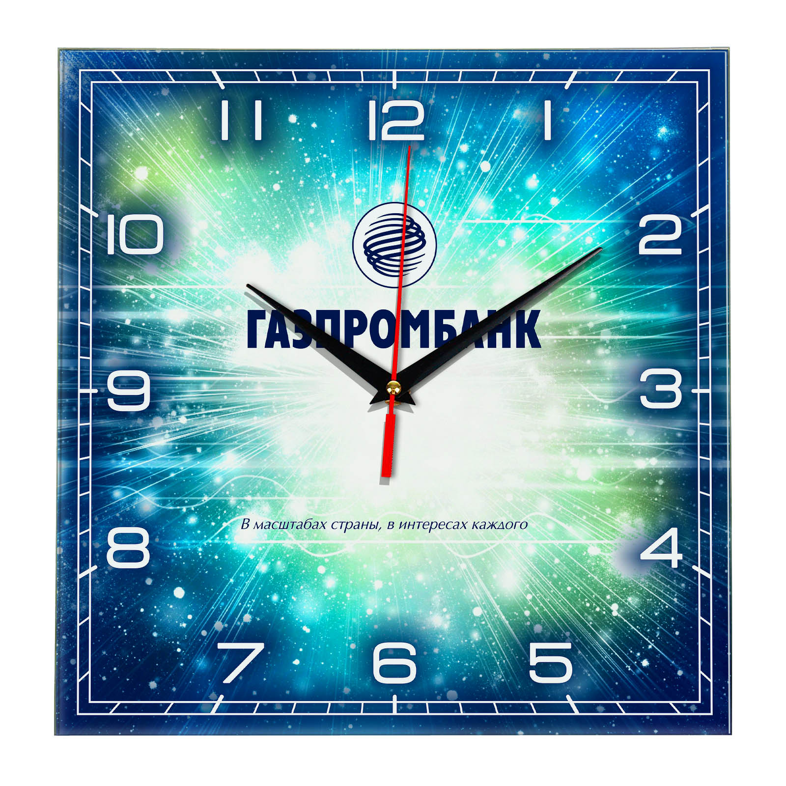Настенные часы «Gazprombank_clock»