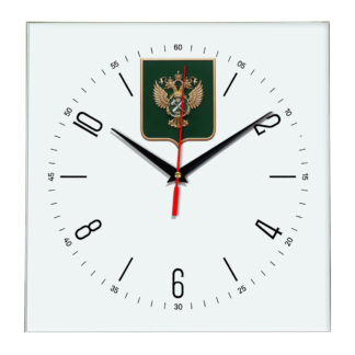 Настенные часы  «gerb-rosimushhestva-schit-04»