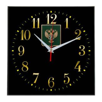 Настенные часы  «gerb-rosimushhestva-schit-35»
