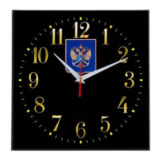 Настенные часы  «gerb-rosrybolovstva-02-35»