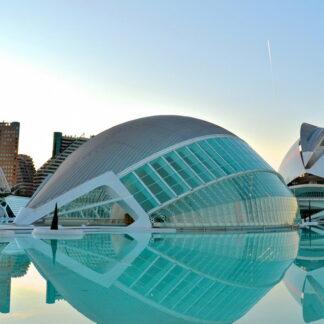 Фото на стекле «Город искусств и наук»