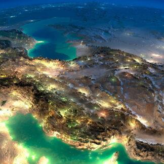 Фото на стекле «Ночной Иран»