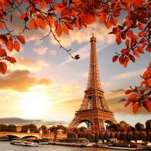 """Фото на стекле """"Осенний Париж"""""""