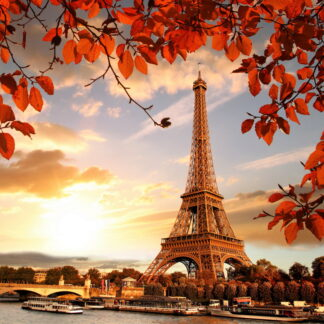 Фото на стекле «Осенний Париж»
