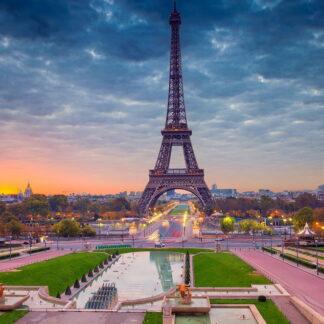 Фото на стекле «Эйфелева башня»