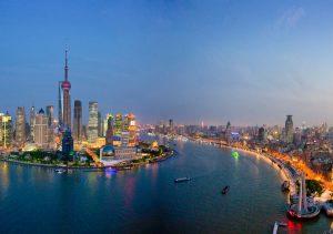 """Фото на стекле """"Шанхай"""""""