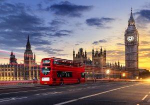 """Фото на стекле """"Вечерний Лондон"""""""