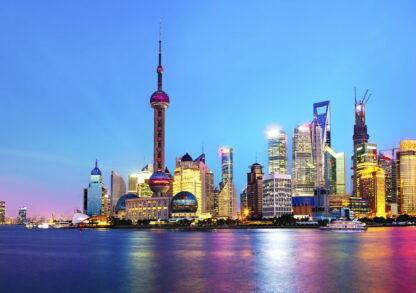Фото на стекле «Панорама Шанхая»