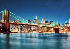 Фото на стекле «Бруклинский мост»