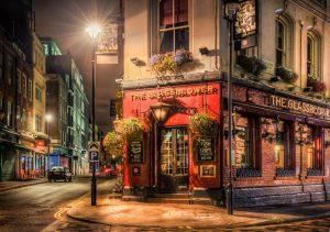 """Фото на стекле """"Улицы Лондона"""""""