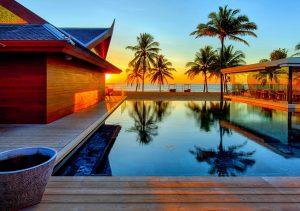 Фото на стекле «Закат в доме мечты»