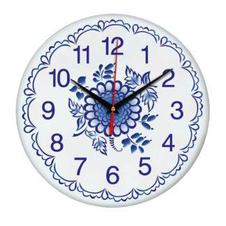 Народные промыслы часы Гжель 2