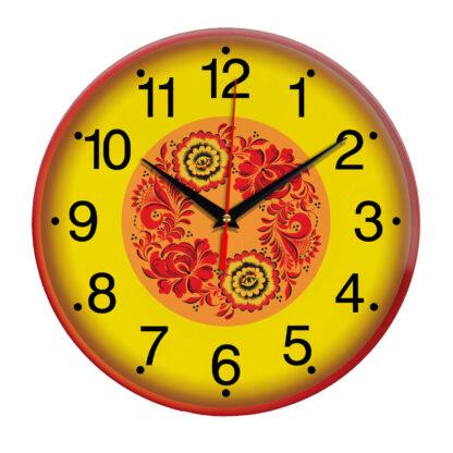 Народные промыслы часы Хохлома 3