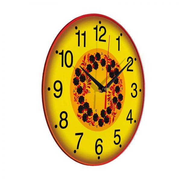Народные промыслы часы Хохлома 4