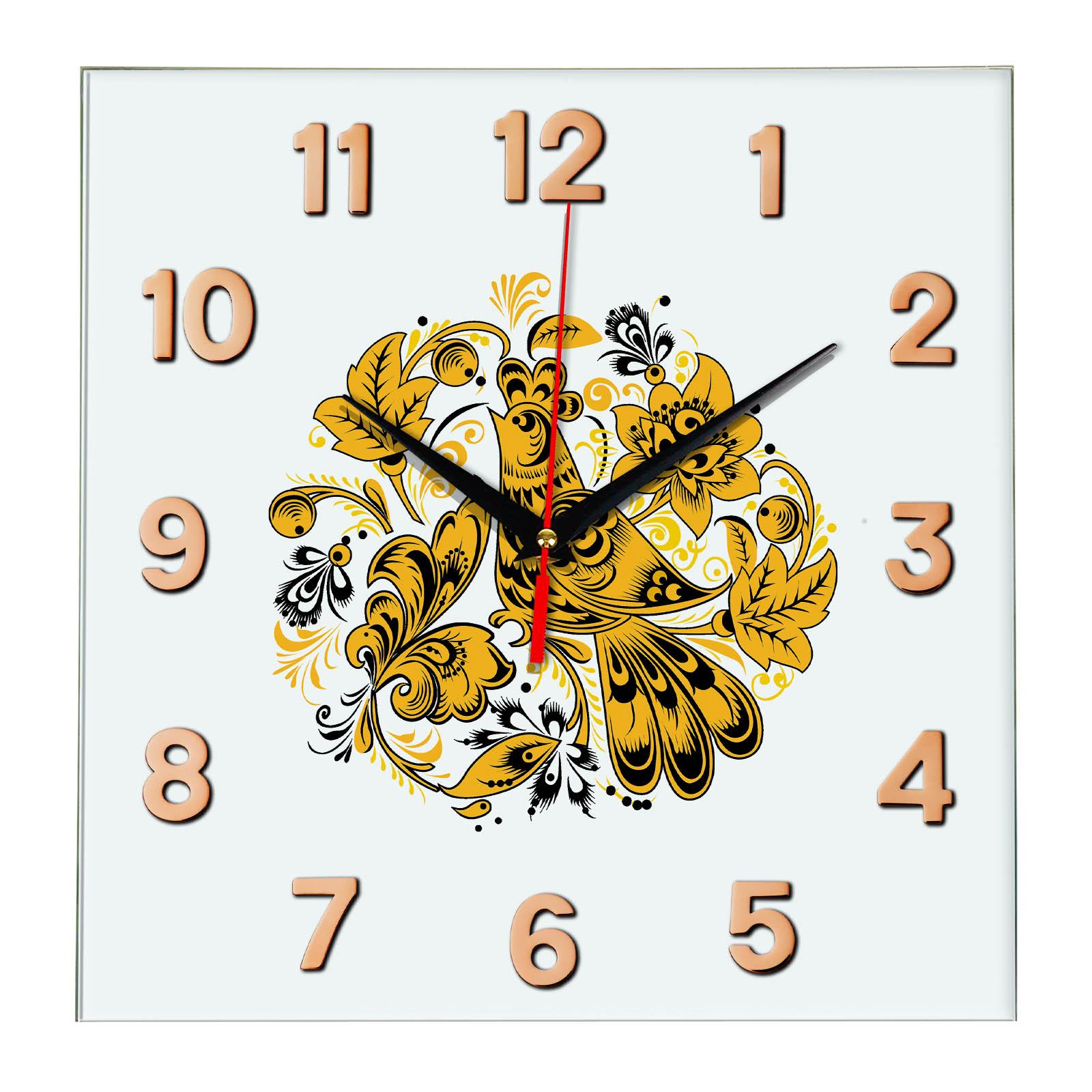 Народные промыслы часы Хохлома 5