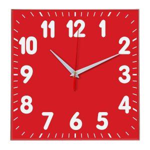 Настенные часы Ideal 833 красный