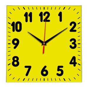 Настенные часы Ideal 833 желтые