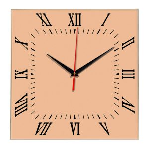 Настенные часы Ideal 834 оранжевый светлый