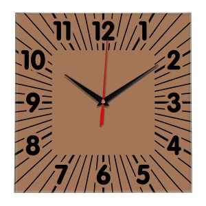 Настенные часы Ideal 836 коричневый светлый