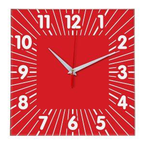 Настенные часы Ideal 836 красный