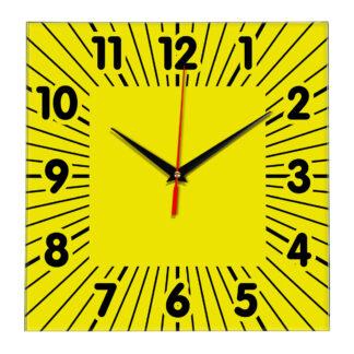 Настенные часы Ideal 836 желтые