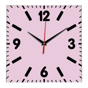 Настенные часы Ideal 837 розовые светлый
