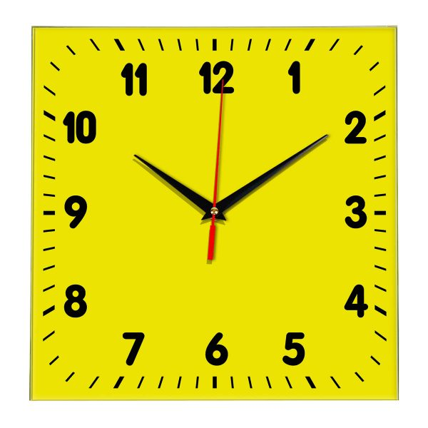 Настенные часы Ideal 838 желтые