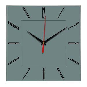 Настенные часы Ideal 839 серо синий