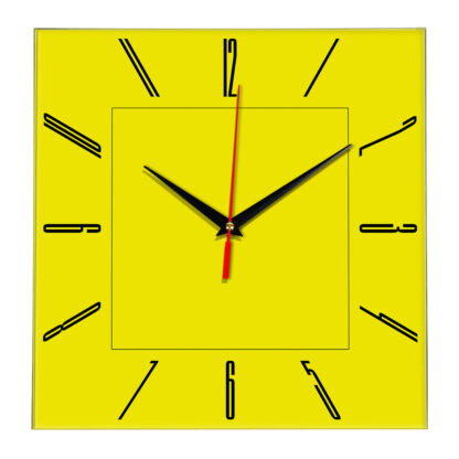 Настенные часы Ideal 839 желтые