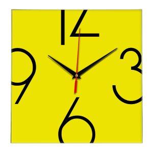 Настенные часы Ideal 840 желтые
