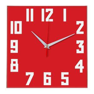 Настенные часы Ideal 841 красный