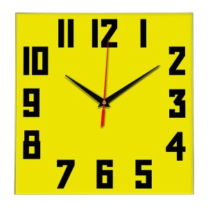 Настенные часы Ideal 841 желтые