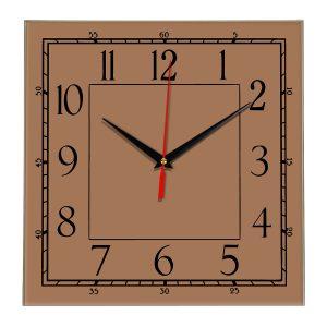 Настенные часы Ideal 842 коричневый светлый