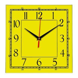 Настенные часы Ideal 842 желтые