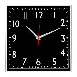 Настенные часы Ideal 843 черные