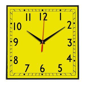 Настенные часы Ideal 843 желтые