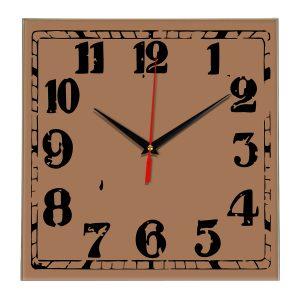 Настенные часы Ideal 844 коричневый светлый