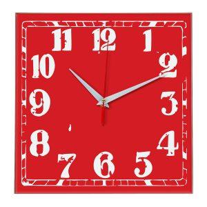 Настенные часы Ideal 844 красный
