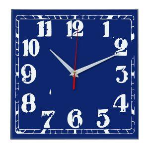 Настенные часы Ideal 844 синий темный