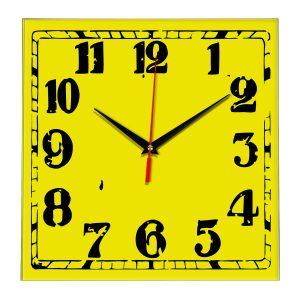 Настенные часы Ideal 844 желтые