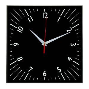 Настенные часы Ideal 845 черные