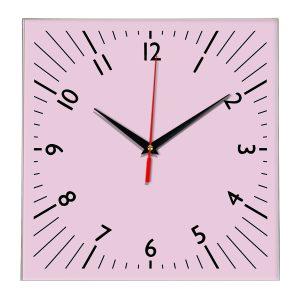 Настенные часы Ideal 845 розовые светлый
