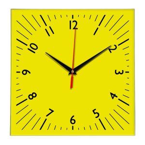 Настенные часы Ideal 845 желтые