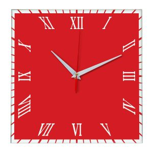 Настенные часы Ideal 846 красный