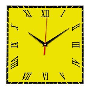 Настенные часы Ideal 846 желтые