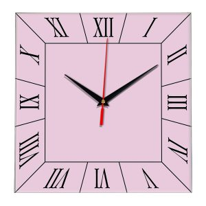 Настенные часы Ideal 847 розовые светлый